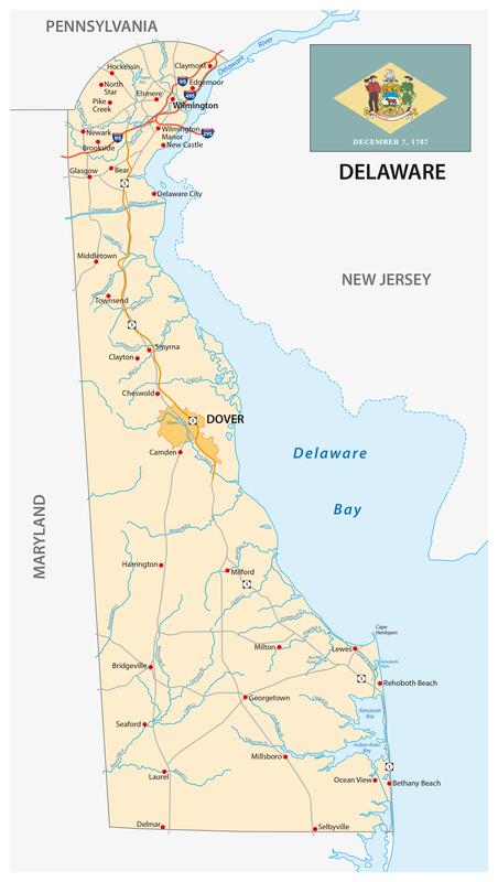 Seaford DE City Map Porta Potty Rentals